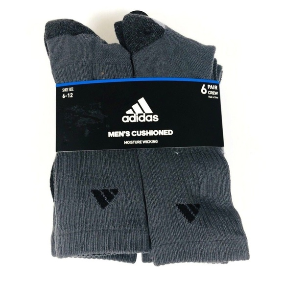 2ef4113e7614c adidas Underwear & Socks | Mens Cushion Crew Socks 6 Pk | Poshmark